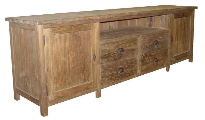 houten tv meubel, eiken, teak