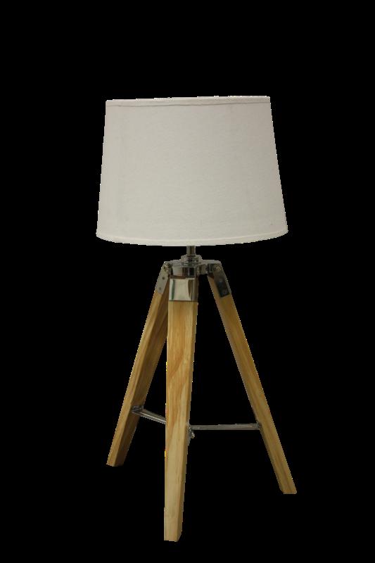 Tafel lamp Natural Schirm creme 30*30*65