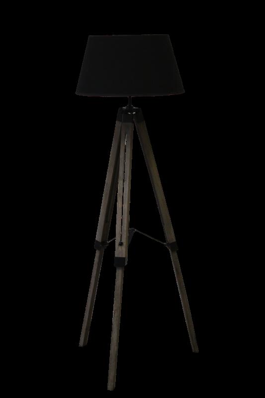Staande lamp Old grey Schirm schwarz 65*55*144
