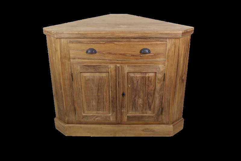 Hoekkast Keuken Maten : Tv hoekkast 2deur 1la blank – Producten – Henk Schram, houten meubelen