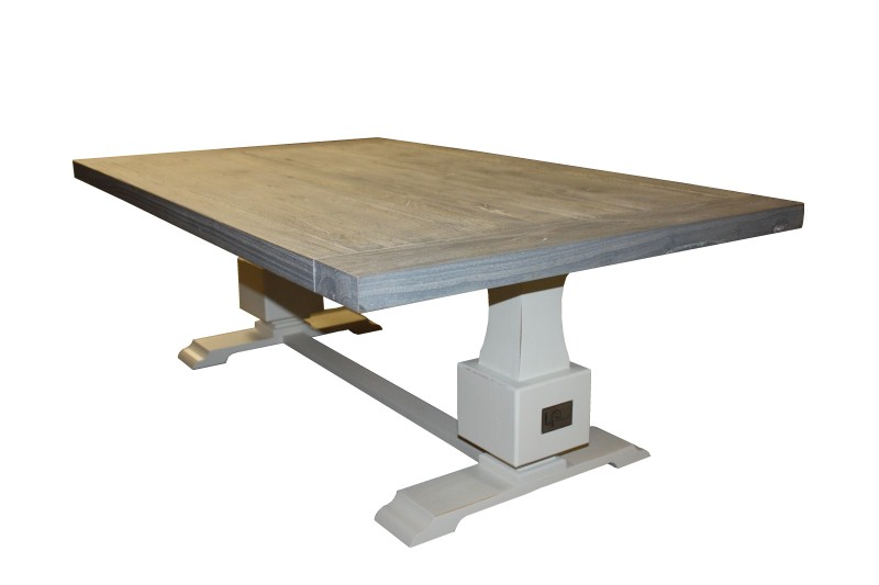 LP-Salon tafel Monaco (2-COLLI) Grey task/ral wit 130*80*45