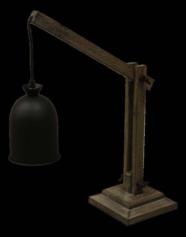 Tafel lamp Natural Schirm schwarz 42*17*53