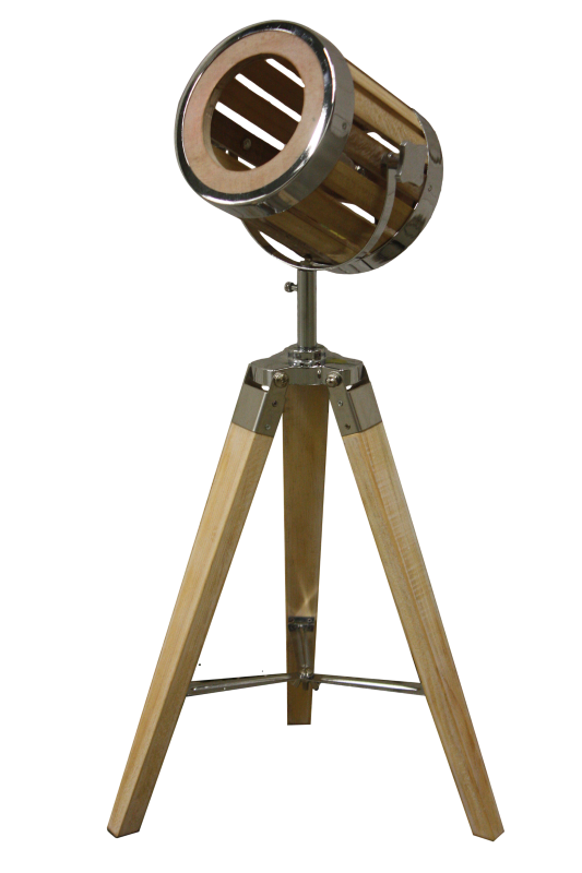 Tafel lamp Natural Schirm chrome 32*32*65