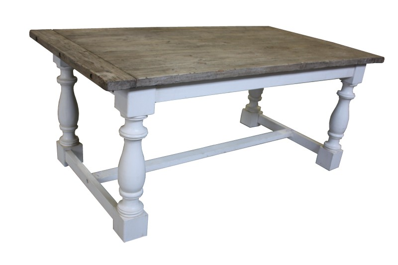 Dining table Cornwall old wht/old rust 190*100