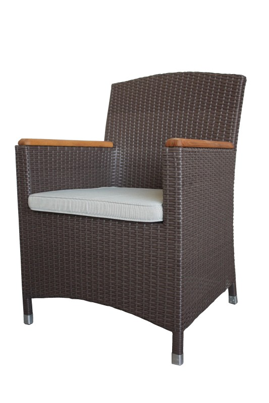 Tuin armstoel wicker Poltrana Brown 64*60*91