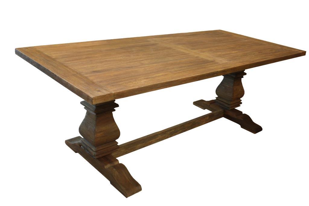 Table Castle - 294x100 cm - vintage - mindi wood