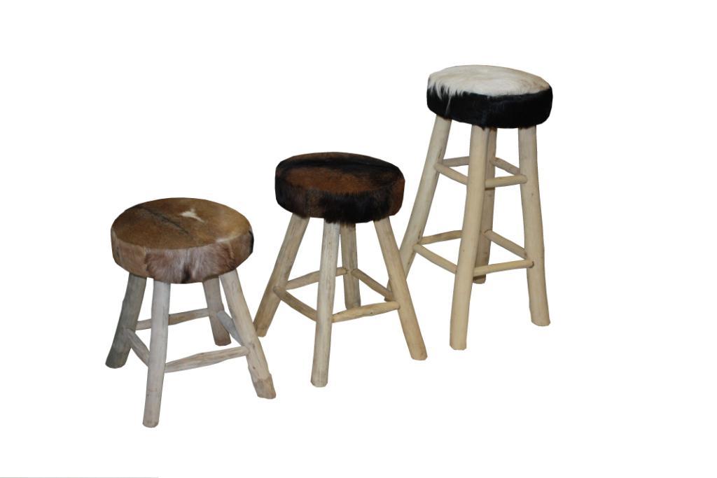 Lounge Stoel Slaapkamer : Bar stoel large met geitenhuid - Producten ...
