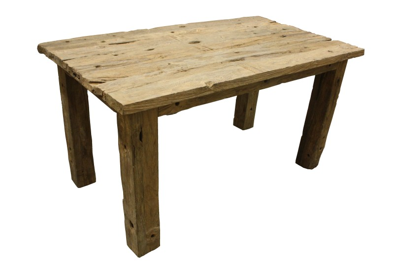 Tafel very rustic top 4cm Blank 150*85*80 straight leg