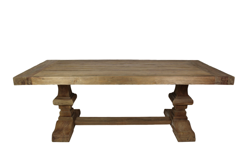 Dining table Castle legs Dingklik teak 220*100*78