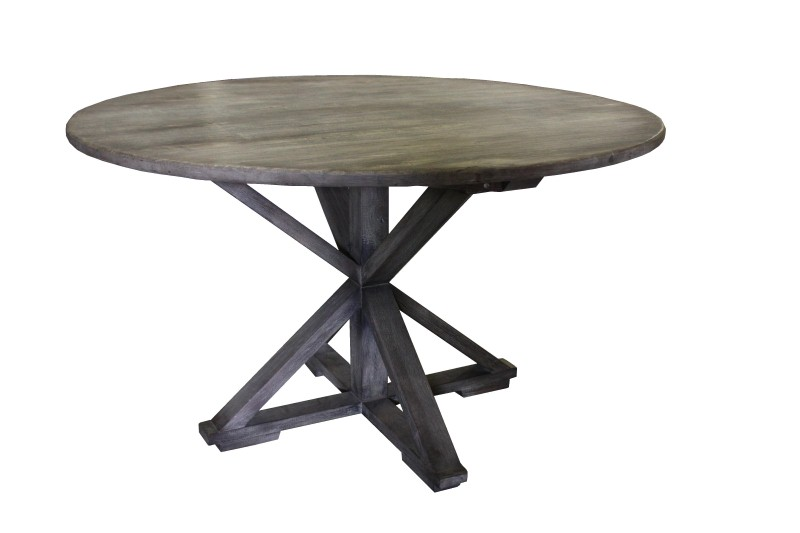 HC-Dining table round Vintage grey ø 130*78