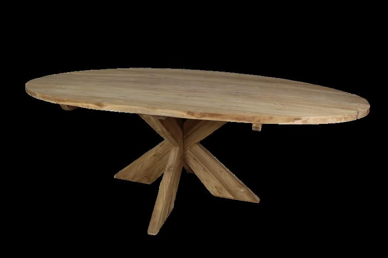 Teakhouten Tafel Rond : Teakhouten tafel ovaal: antieke teakhouten tafel tonnel charme van