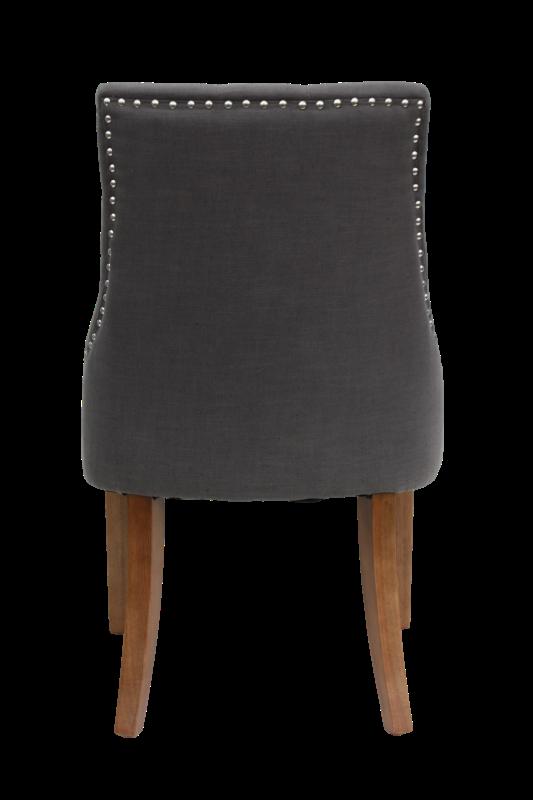 Stoel royan light grey linnen vintage legs products henk schram houten meubelen - Linnen stoel ...