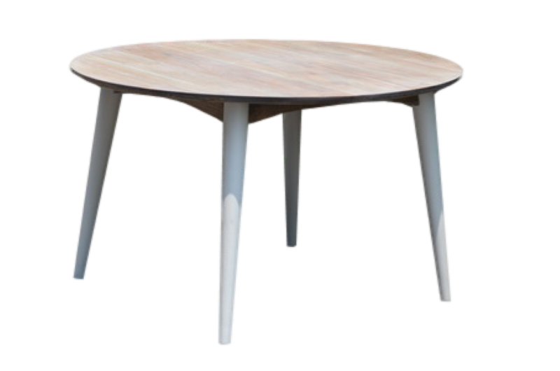 Tafel rond Norway Vint.natural/ral wit ø 130