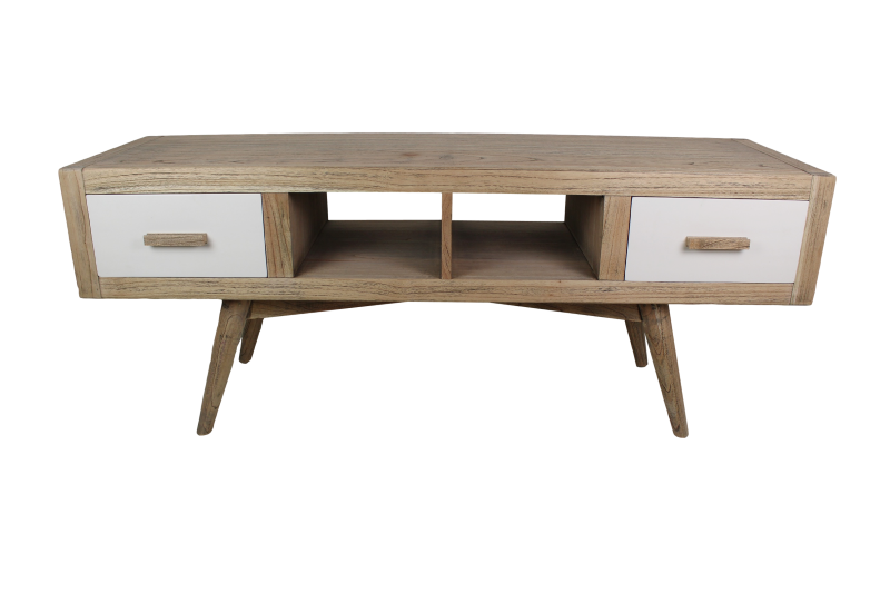 Tv dressoir 2la Norway Vint.natural/ral wit 150*45*60