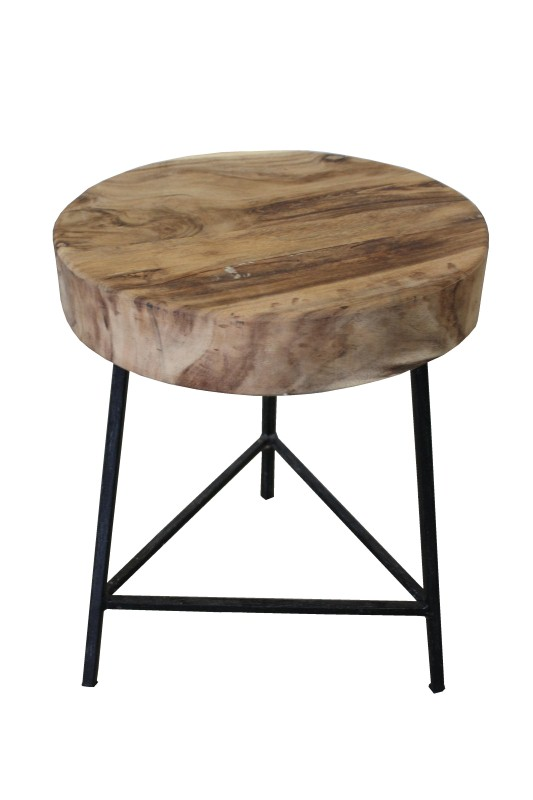 Stool iron frame round top Black ø35*42