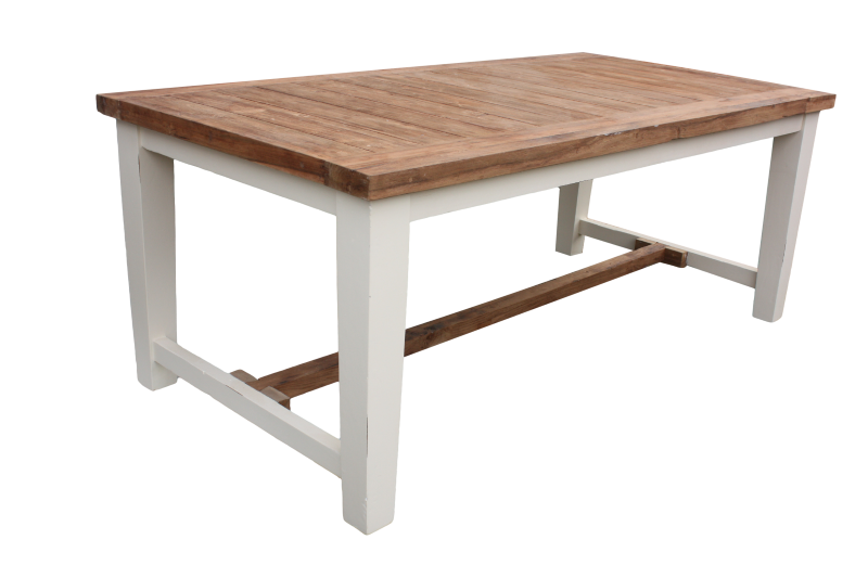 Tafel Manhattan top 5cm Natural/Ralwit 240*100*78
