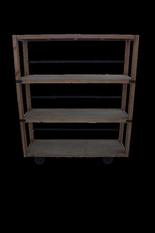 Storage rack Matrix Vintage Teak/wax 129*40*154