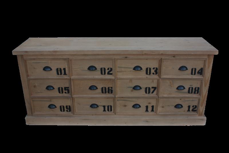 Dresser Matrix Vintage 12la Teak/wax 158*40*68