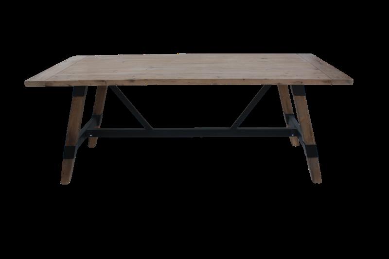 Dining table Matrix Vintage Teak/wax 200*95*78
